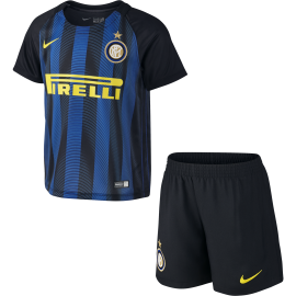 Nike Kit Inter Home Stadium Black/Royal Blue Bambino