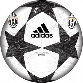Adidas Pallone Finale 16 Juventus Capitano Bianco/Nero