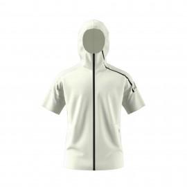 Adidas Felpa MM Cap/Zip Z.N.E. Donna Bianco