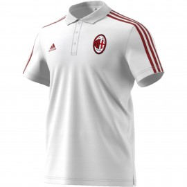 Adidas Polo AC Milan 3 Stripes White/Red