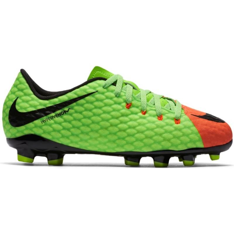 Nike Hypervenom Phinish II Fg Verde/Nero Junior