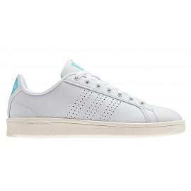 Adidas Cloudfoam Advantage Clean  Bianco/Azzurro Donna
