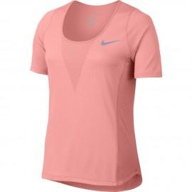 Nike T-shirt Mm Run Znl Cl Relay Bright Melon Donna
