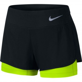 Nike Short Run 2 in 1 Rival Black/Volt Donna
