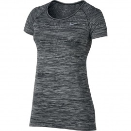 Nike T-shirt Mm Run Df Knit Black/Htr Donna