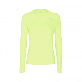 Diadora T-shirt ML Run L.X. Giallo Fluo