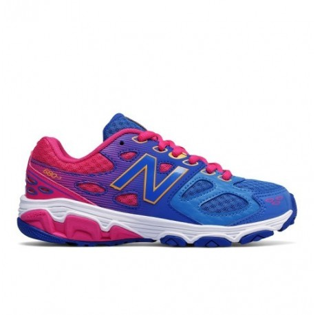 New Balance 680 Synthetic Laccio Gs Blu/rosa
