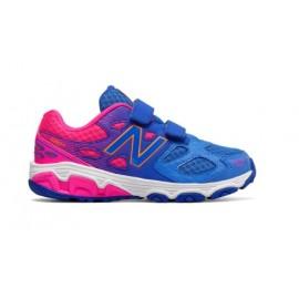 New Balance 680 Synthetic Laccio Gs Blu/rosa