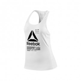 Reebok Tank Donna Graphic Logo  Bianco