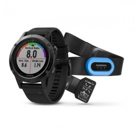 Garmin Gps Fenix 5 Shappire Perform Bundle c/f.c.hrm-tri Nero
