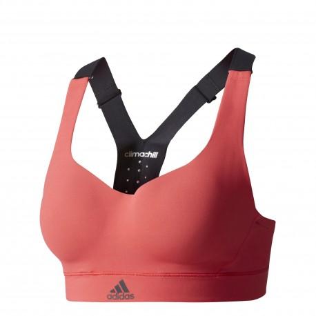 Adidas Bra Donna High Bicolor Rosso