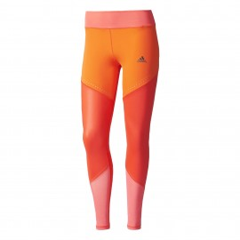 Adidas Legging Donna Bicolor Train Rosso
