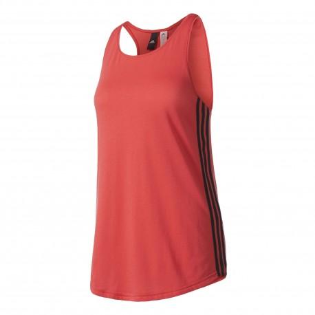 Adidas Tank Donna Ess 3str Rosso