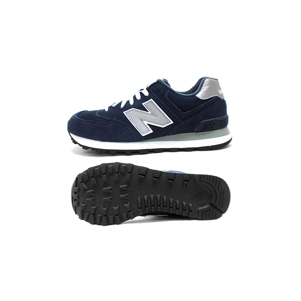 new balance 574 grigia blu