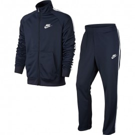 Nike Tuta Poly Zip Basic Blu