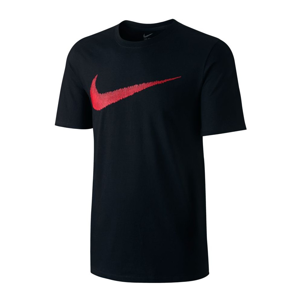Nike t shirt mm logo swoosh black 707456 010 acquista for Nike swoosh logo t shirt