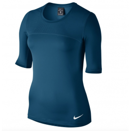 Nike T-shirt 3/4 Hprcl Donna Ind Blue