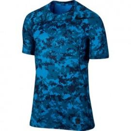 Nike T-shirt Mm Hprcl Camo K Ind Blue