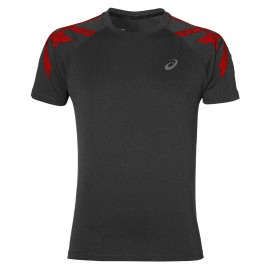 Asics T-shirt Mm Run Stripe Dark Grey