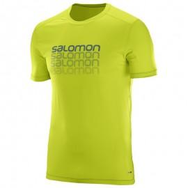 Salomon T-Shirt Cosmic Logo Lime Punch