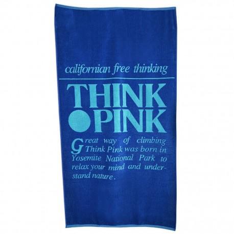 Think Pink Telo Logo Retro'  Blu