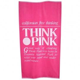 Think Pink Telo Logo Retro'  Rosa