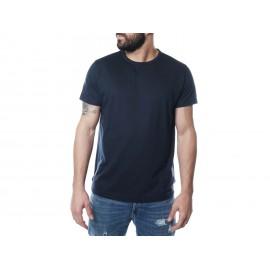 Ea7 T-Shirt Girocollo Logo Basso Bianco