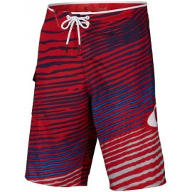 Oakley Baya Biscuit 21 Boardshort Righe Rosso
