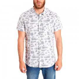 Billabong Camicia Manica Corta Fiori Bianco