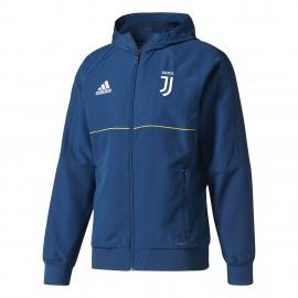 Adidas Felpa C/Capp Juve Pre  Royal/Gold