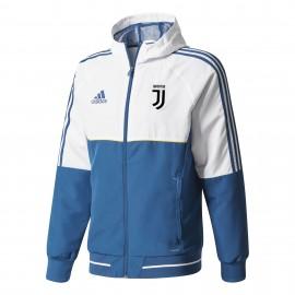 Adidas Felpa C/Capp Juve Pre  Bianco/Royal