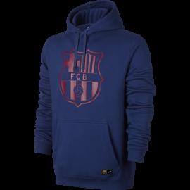 Nike Felpa C/Capp Fcb  Royal/Red