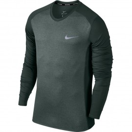 Nike T-Shirt Ml Rn Dry Miler    Vintage Green/Htr