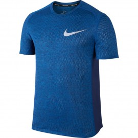Nike T-Shirt Mm Rn Brthe Miler Cool    Blue Jay/Htr