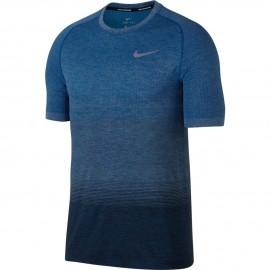 Nike T-Shirt Mm Rn Df Knit    Blue Jay/Wolf Grey