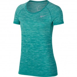Nike T-Shirt Donna  Mm Run Df Knit    Igloo/Turbo Green