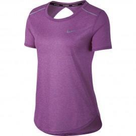Nike T-Shirt Donna  Mm Run Brthe    Bold Berry/Htr