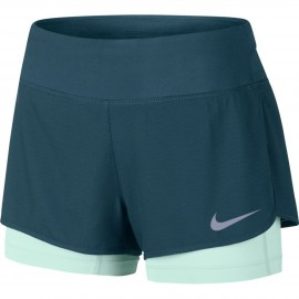 Nike 2in1 Short Donna  Run Rival    Space Blue/Igloo