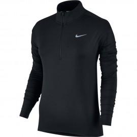 Nike T-Shirt Donna  Ml Run Dry Elmnt Hz    Black