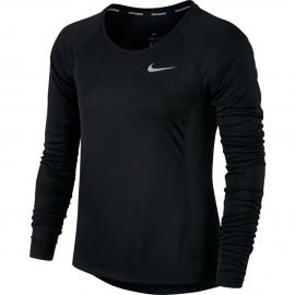 Nike T-Shirt Donna  Ml Rn Dry Miler    Black