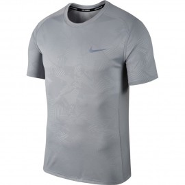 Nike T-Shirt Mm Run Dry Miler Pr    Wolf Grey