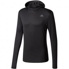 Adidas Hoodie Ml Run Response Clima Warm    Black