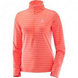 Salomon Maglia Donna Lighting Hz Fluo Coral