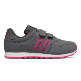 New Balance Scarpa Bambino 500 Neon Grigio/Rosa
