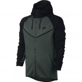 Nike Felpa Zip E Capp Tch Flc Unisex Nero/Grigio