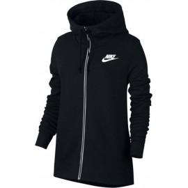 Nike Felpa Donna Full Zip C/Capp Nero