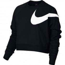 Nike Felpa Logo Swoosh Manichino  Donna Nero