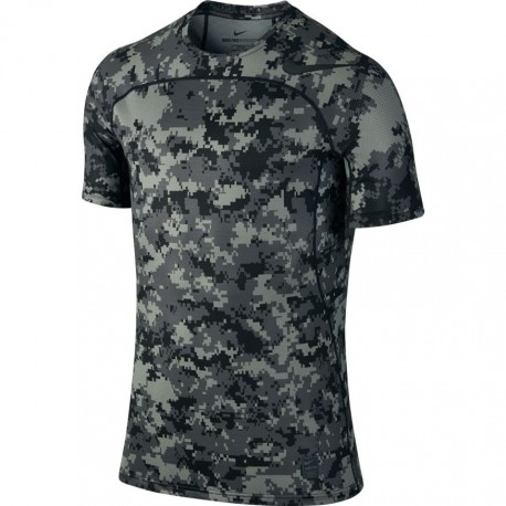 Nike T-Shirt Unisex Hprcl Top Camou Grigio