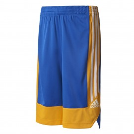 Adidas Short Bambino Poly Commander Royal/Giallo