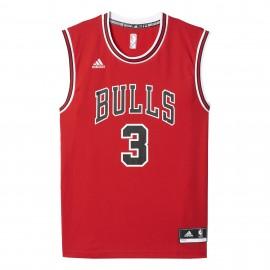 Adidas Canotta Nba Chicago Bulls Rosso/Nero